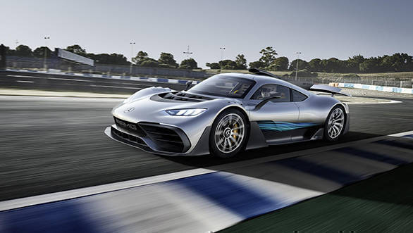 2017 Frankfurt Motor Show: Mercedes-AMG Project One image gallery