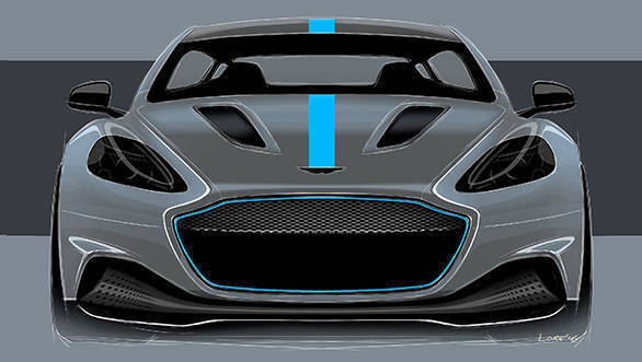 Aston Martin RapidE Front Sketch