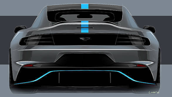 Aston Martin RapidE Rear Sketch