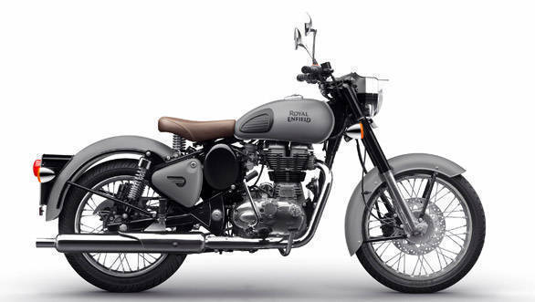 Royal Enfield Classic 350 gunmetal grey and Classic 500 stealth black launched in India