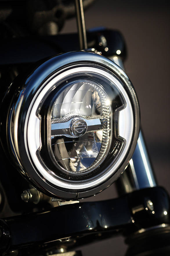 2018 Harley-Davidson Street Bob LED headlight detail