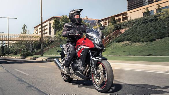 2017 Honda CB500X Action