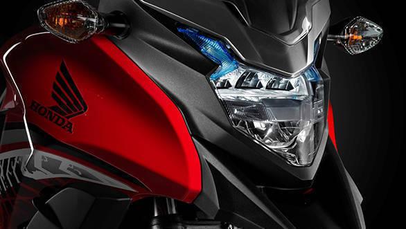2017 Honda CB500X headlight detail