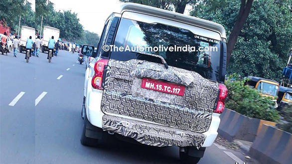Spied: 2017 Mahindra Scorpio facelift caught testing in India