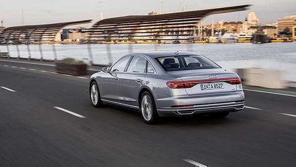 2018 audi a8l first drive review overdrive. Black Bedroom Furniture Sets. Home Design Ideas