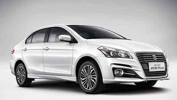 India-bound Maruti Suzuki Ciaz facelift (Suzuki Alivio) images revealed