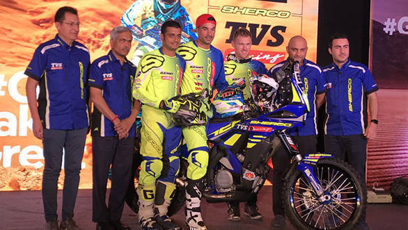 Dakar 2018: Sherco TVS Factory Rally Team announce rider line up