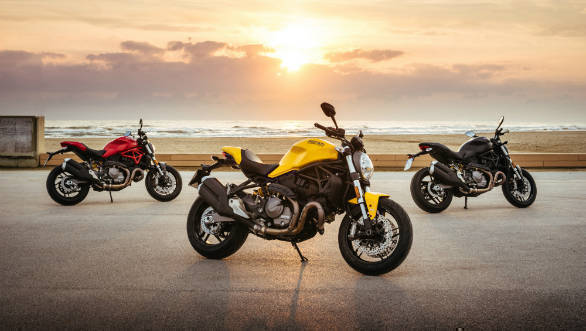 Ducati Monster 821 unveiled; celebrates 25th anniversary of Monster family