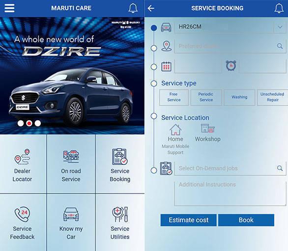Maruti Suzuki updates its Maruti Care smartphone app - Overdrive