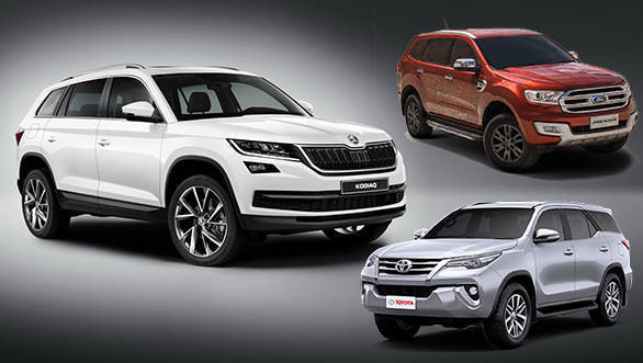 2017 Skoda Kodiaq's price can't take on the Ford Endeavour and Toyota Fortuner in India
