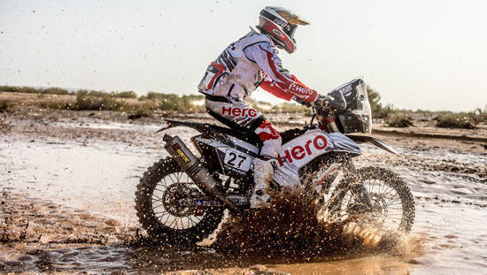 2017 OiLibya Rally of Morocco: Hero MotoSports rider JRod ranked sixth after Stage 3