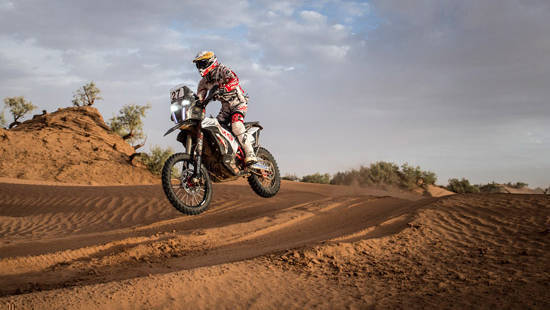 2017 OiLibya Rally of Morocco: Hero MotoSports rider JRod ranked seventh after Stage 4