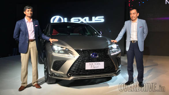 Lexus NX300h showcased in India