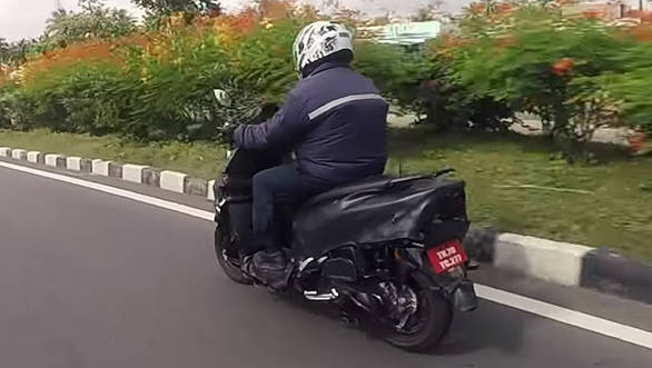 All-new TVS Graphite concept based scooter spotted testing in India