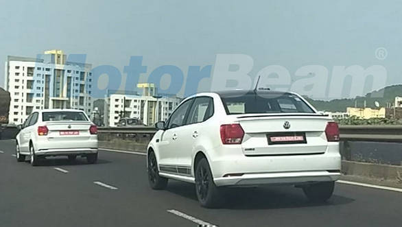 2018 Volkswagen Ameo Sport spotted testing in India