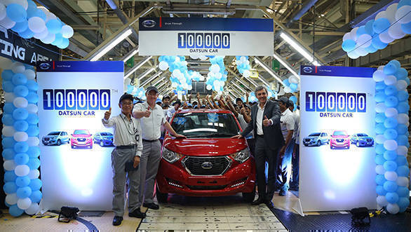 Datsun has now produced 100,000 cars in India over 3 years