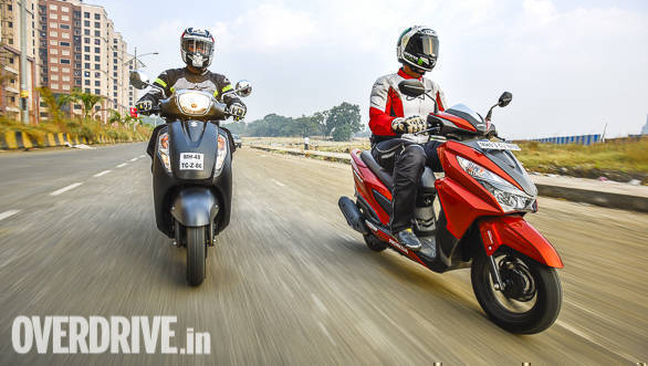 Honda Grazia 125 vs Suzuki Access 125 comparison test