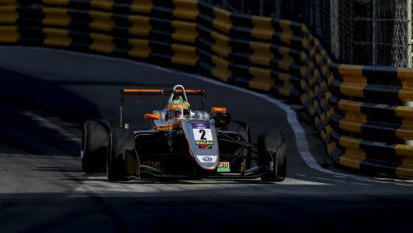 2017 Macau GP: Jehan Daruvala finishes tenth in F3 race at Guia