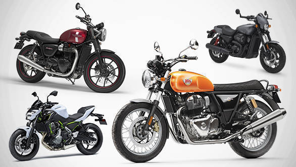 Spec comparison: Royal Enfield Interceptor 650 Twin vs Harley-Davidson Street Rod vs Kawasaki Z650 vs Triumph Street Twin