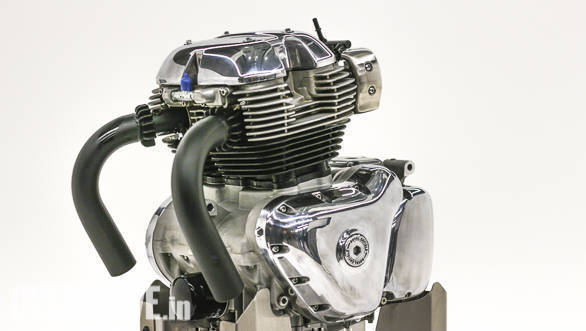Royal Enfield reveals 650 cc engine ahead of EICMA