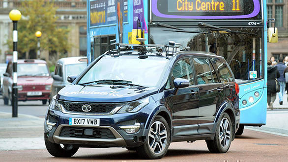 Tata Motors testing autonomous Tata Hexa on UK roads