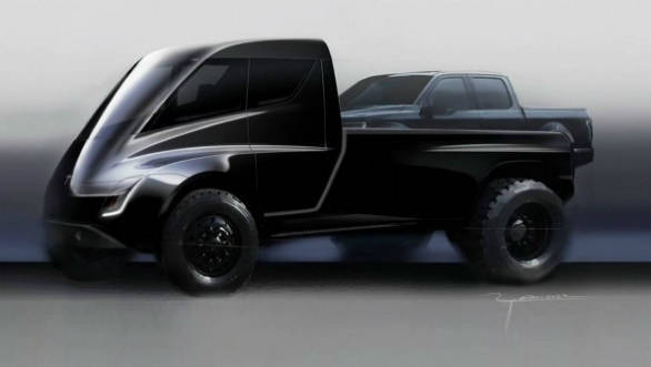 Tesla pick-up truck based on the Semi teased