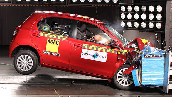 India-made Toyota Etios gets four-star rating in GNCAP crash tests