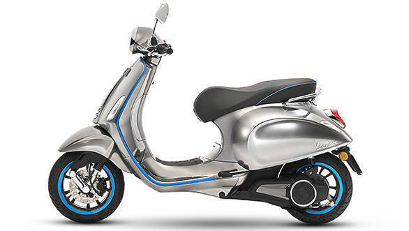 EICMA 2017: Vespa Elettrica electric scooter goes 100km on a single charge