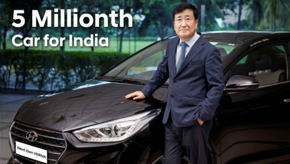 Hyundai has rolled out five million cars in India since 1998