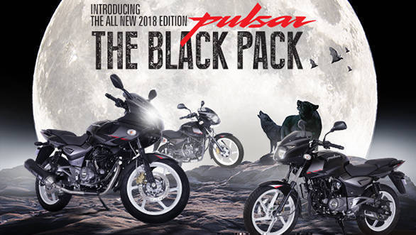 Bajaj introduces 2018 Pulsar Black Pack edition in India