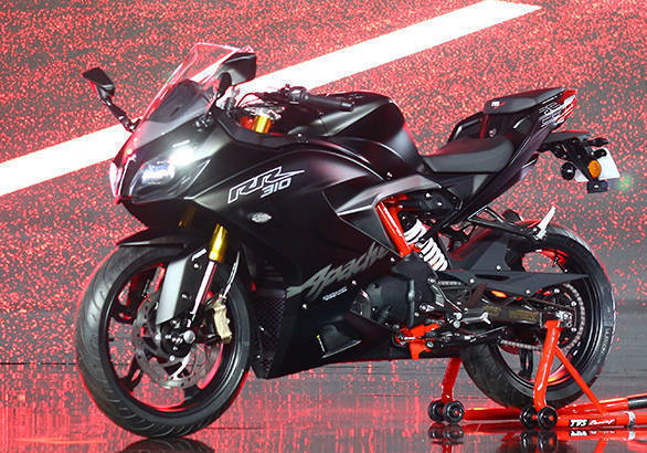 TVS races on super-premium track astride Apache RR 310