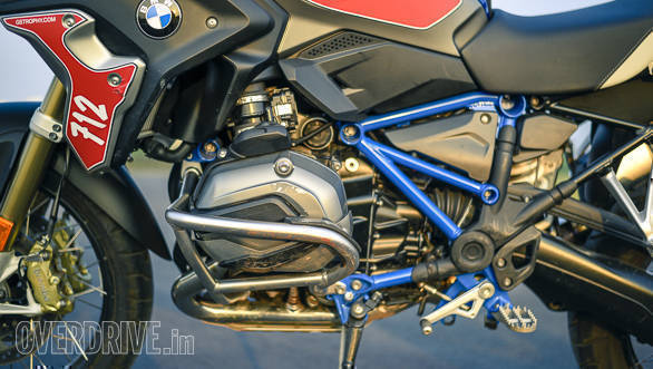 BMW R 1200 GS Rallye left side engine detail