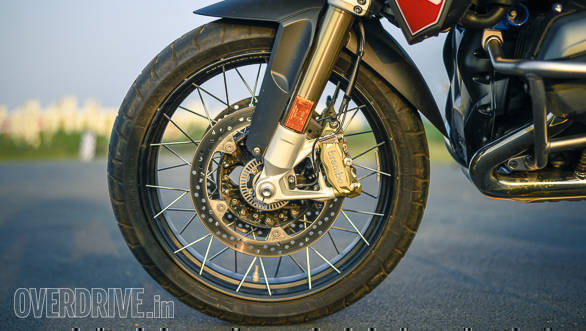 BMW R 1200 GS Rallye front wheel detail