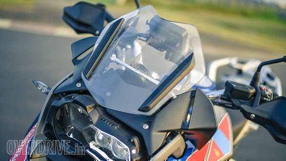 BMW R 1200 GS Rallye screen detail
