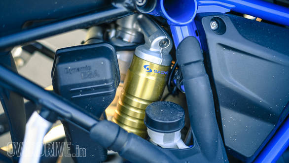 BMW R 1200 GS Rallye semi-active suspension detail