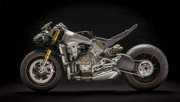 Ducati Panigale V4 S exposed left side studio static