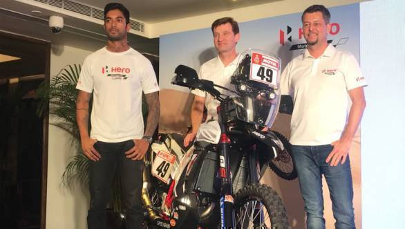 Hero MotoSports Team Rally gears up for Dakar 2018 with the new RR 450 rally bike