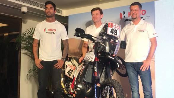 Hero MotoSports Team Rally gears up for Dakar 2018 with the new RR 450 rally bike
