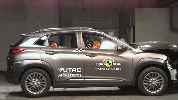 Hyundai Kona subcompact SUV scores five star in Euro NCAP test