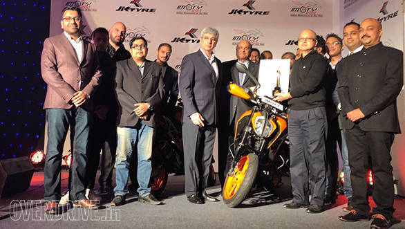 KTM 390 Duke wins the prestigious Indian Motorcycle of the Year (IMOTY) 2018 award