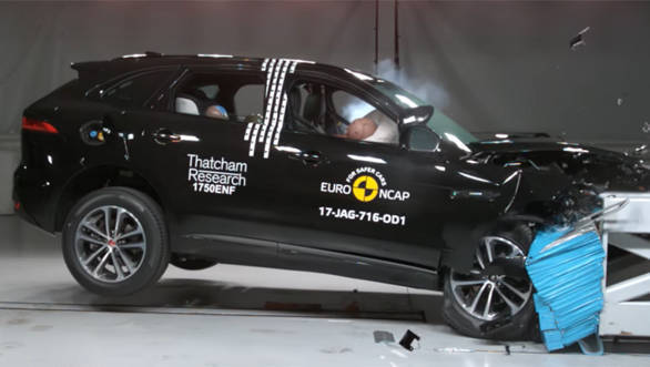 Euro NCAP test: Jaguar F-Pace SUV gets five star rating