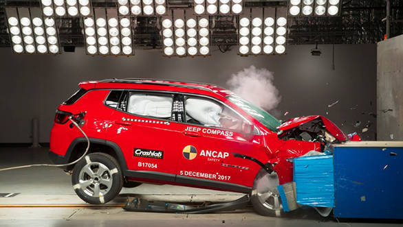 India-made Jeep Compass scores 5 stars in Australian ANCAP crash safety tests