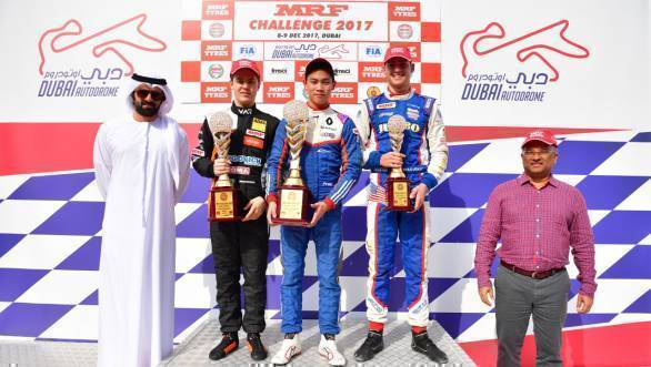 MRF Challenge 2017: Felipe Drugovich increases championship lead after Dubai double podium