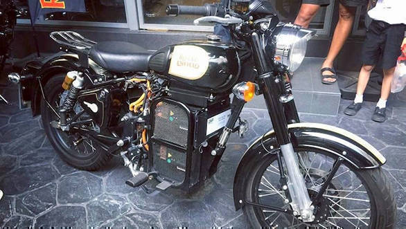 Royal Enfield Classic 500 Electric motorcycle spotted in Thailand