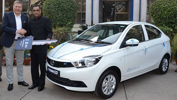 Tata Tigor electric sedans delivered to EESL in India