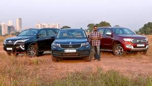 Skoda Kodiaq vs Ford Endeavour vs Toyota Fortuner - Comparative Review