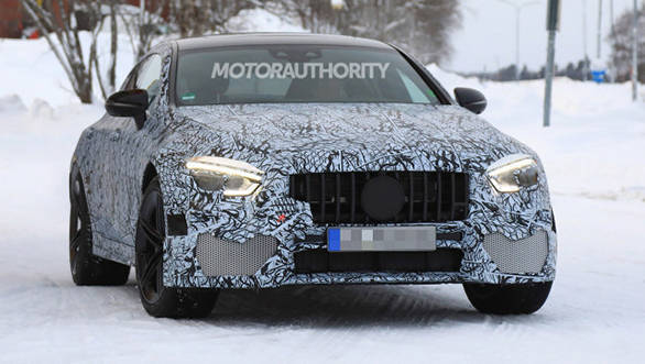 2019 Mercedes-AMG GT sedan spied being tested in snow