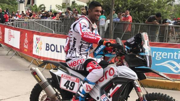 Dakar 2018: Hero MotoSports rider CS Santosh ranked 13th after Stage 1