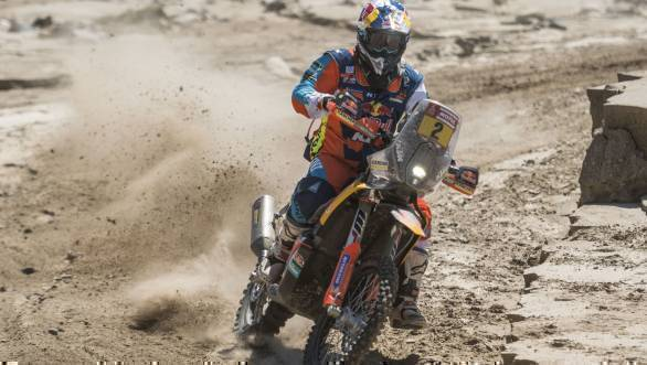 Dakar 2018: Walkner leads motorcycle class, Sainz leads in cars after Stage 10