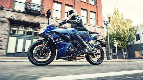 Kawasaki Ninja 650 with candy plasma blue paint option launched in India at Rs 5.33 lakh